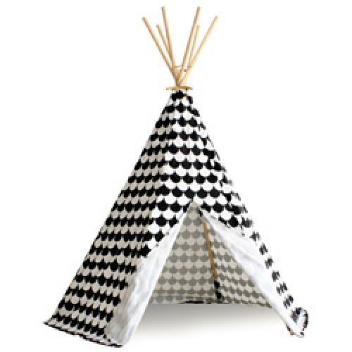 Nobodinoz-superleuke Tipi tent-scales black-8067