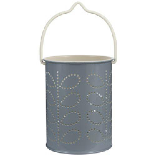 Orla Kiely-prachtige theelicht lantaarn-grijs buitenzijde-8162