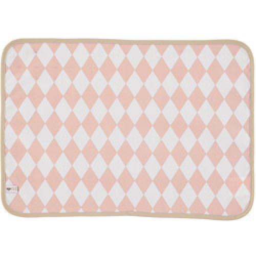 Nobodinoz-mooie placemat messina in tafelzeil-diamant roze-8167