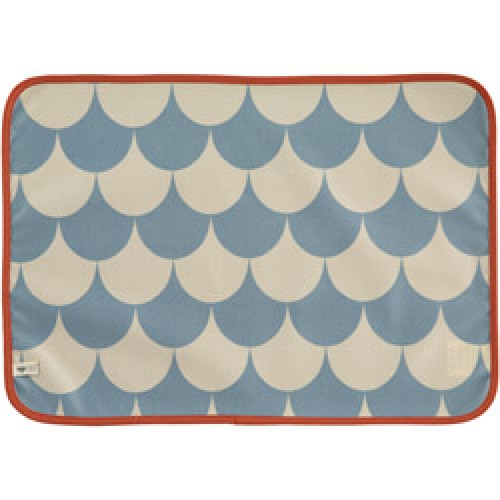 Nobodinoz-mooie placemat messina in tafelzeil-scales blue-8168