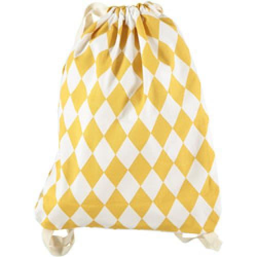 Nobodinoz-mooi klein rugzakje in katoen-diamant honey-8203
