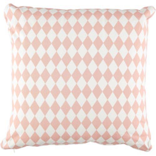 Nobodinoz-groot vierkant kussen athena 50 x 50 cm-diamant roze-8222