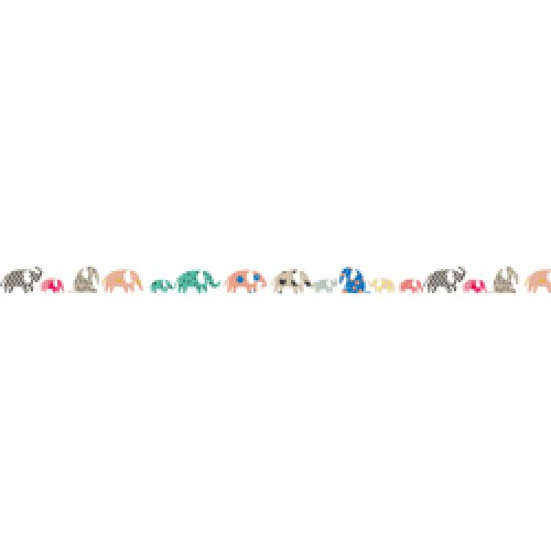 Mim'ilou-muursticker fries olifant-elephants-8479