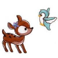 bambi en vogel strijkapplicatie
