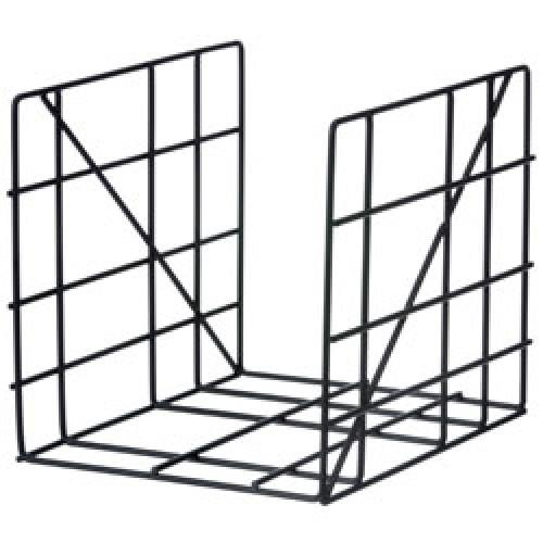 Ferm Living-vierkante metalen tijdschriftenhouder-zwart-8625