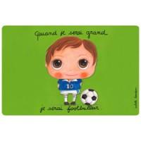 kleurrijke placemat voetbal