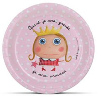 set van 6 kartonnen bordjes prinses