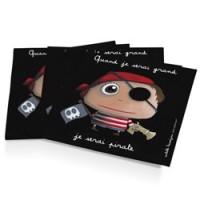 set van 12 papieren servetten piraat