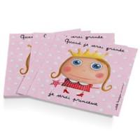 set van 12 papieren servetten prinses