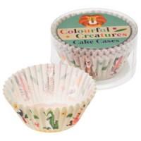 kleurrijke papieren cake vormpjes