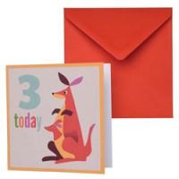 dubbele verjaardagskaart kangeroe
