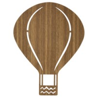 houten wandverlichting air balloon