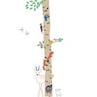 muursticker into the wood 2.4 meter