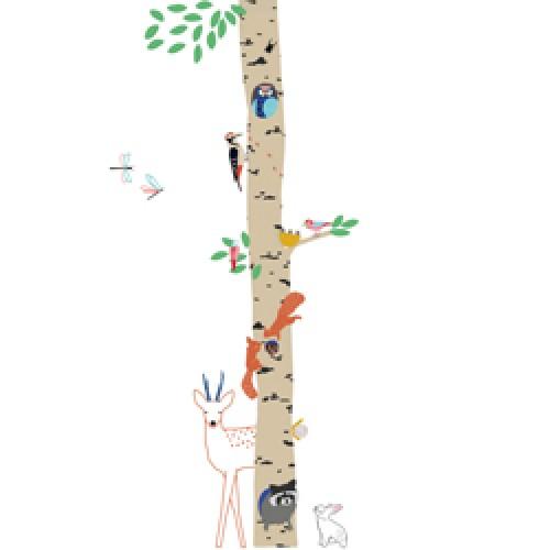 Mim'ilou-muursticker into the wood 2.4 meter-in het bos-9113