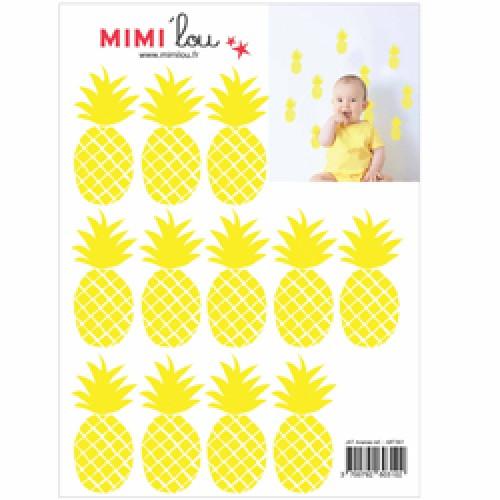 Mim'ilou-mini muursticker ananas-ananas-9115
