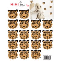 mini muursticker tijgers