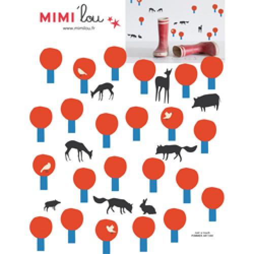 Mim'ilou-mini muursticker pommiers-pommiers-9118