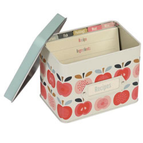 Rex-tinnen receptendoos-vintage apple-9144