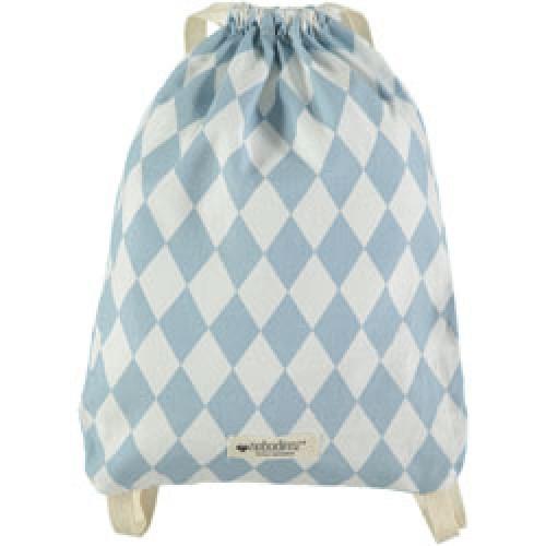 Nobodinoz-mooi klein rugzakje in katoen-diamant blauw-9175