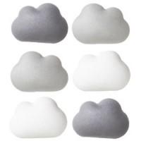 set van 6 leuke wolk magneten