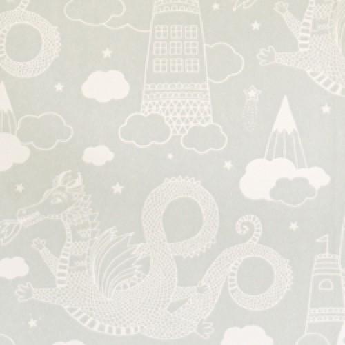 Majvillan-origineel zweeds behangpapier-drakenkasteel grijs 103-04-9270