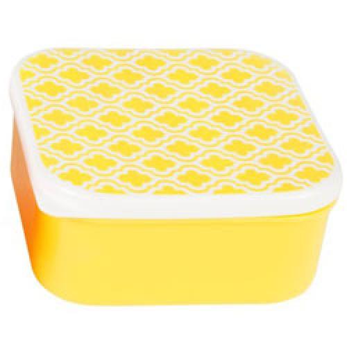 RJB Stone-retro opbergdoosje geometric 11.5x11.5x5.5-salma moroccan yellow-9354