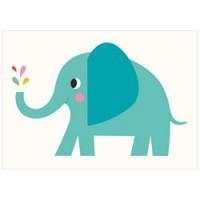 grote dubbele wenskaart olifant