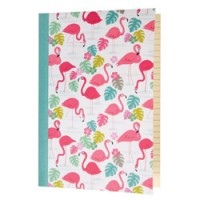 hip notitieboekje A5 flamingo