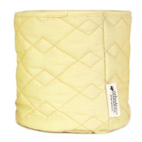 Nobodinoz-mooi gequilt opbergmandje samba medium-sunny yellow medium-9499