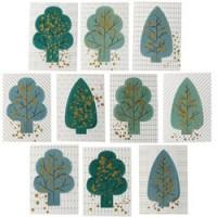 set van 10 pop-up kaarten forest