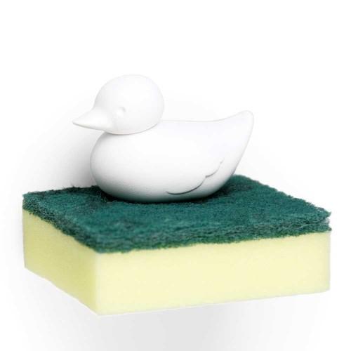 Qualy-leuke sponshouder met sponsje-sponge duck wit-9580