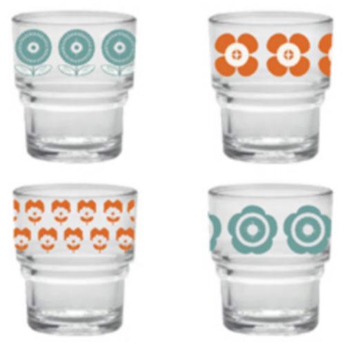 mr and mrs clynk set de 4 verres duralex fleurs prod9809 fr. Black Bedroom Furniture Sets. Home Design Ideas