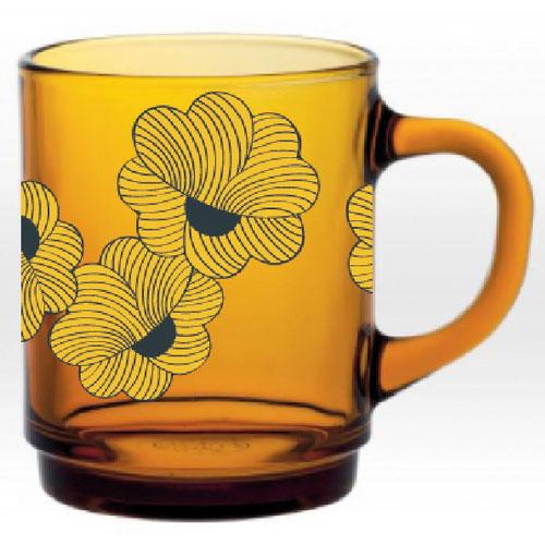 Mr and Mrs Clynk-duralex glazen drinkbeker vermeil-fleur bleu 2-9814