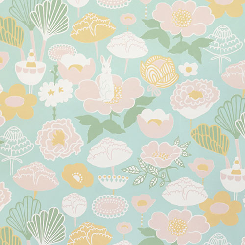 Majvillan-origineel zweeds behangpapier-little light turquoise-9878