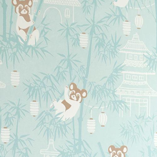 Majvillan-origineel zweeds behangpapier-bambu turquoise-9896