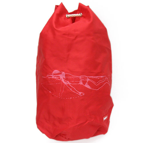 Bakker Made With Love-hippe zwemtas / rugzak-rood zwemmer-10099
