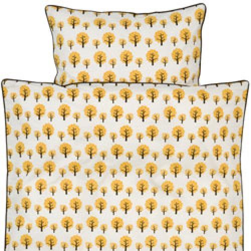 Ferm Living-dekbedovertrek ledikant 100 x 140 cm-dotty yellow junior-2679