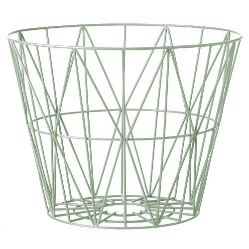 Ferm Living-ronde metalen opbergmand medium-mint medium-10105