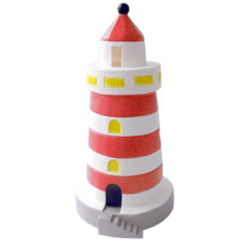 Heico-figuurlamp vuurtoren-vuurtoren klein rood-8328