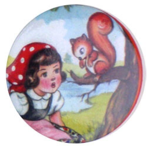 Froy en Dind-hippe retro badge-meisje met eekhoorntje-2771