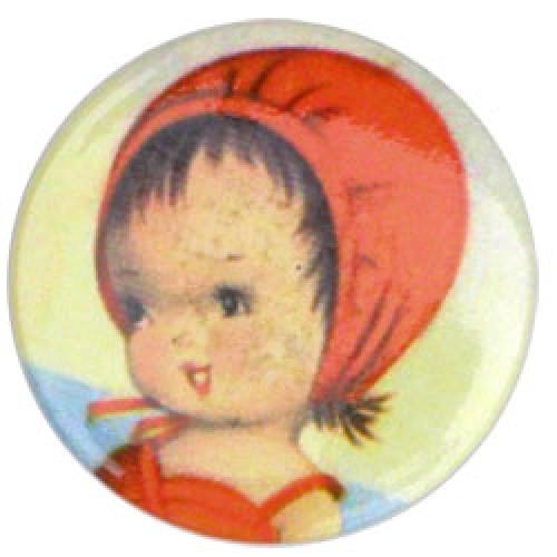 Froy en Dind-retro magneet button-meisje met rood kapje-1657