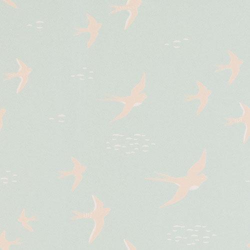 Majvillan-origineel zweeds behangpapier-follow the wind dusty turquoise-10124