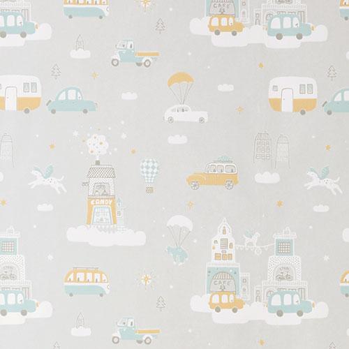 Majvillan-origineel zweeds behangpapier-above the clouds soft grey-10125