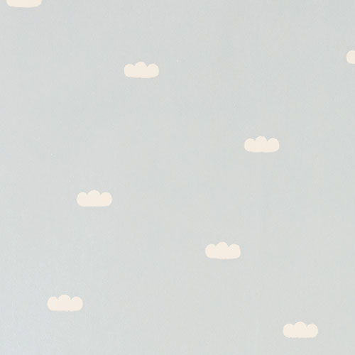 Majvillan-origineel zweeds behangpapier-dreamy clouds soft blue-10128