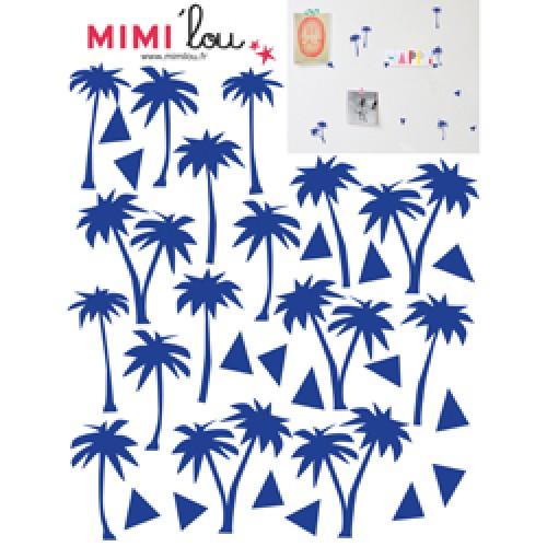 Mim'ilou-mini muursticker palmboompjes-palmiers-9120