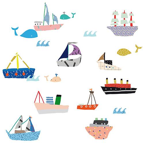 Mimi 39 lou mini muursticker boten bateaux prod10075 nl - Decoratieve spiegel plakken ...