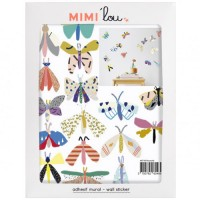 mini muursticker vlinders