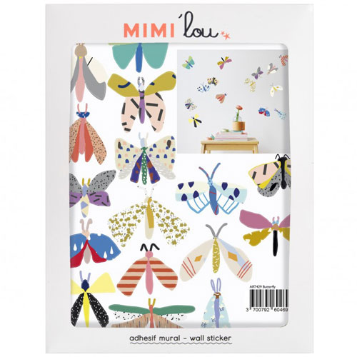 Mimi'lou-mini muursticker vlinders-butterfly-10107