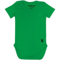 groene body met korte mouw