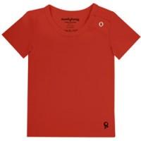 rode baby t shirt met korte mouw